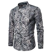 Snake pattern Unique design Hawaiian Shirt Mens Clothing Stage Shirts Blouse Men Casual 2019 New