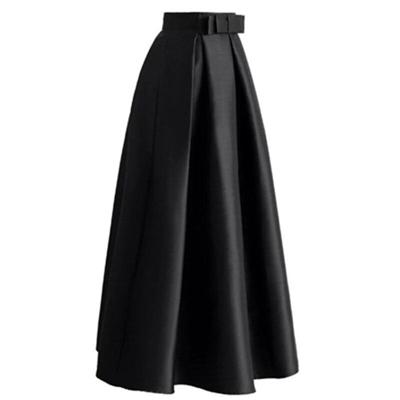Plus Size Skirts Faldas Mujer Moda 19 Abaya Dubai Turkish Long Pleated Maxi High Waist Skirt Women Jupe Longue Femme Skirts 26