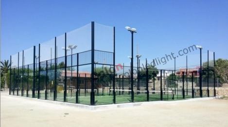 Led per esterni campo sportivo di illuminazione per padel tennis