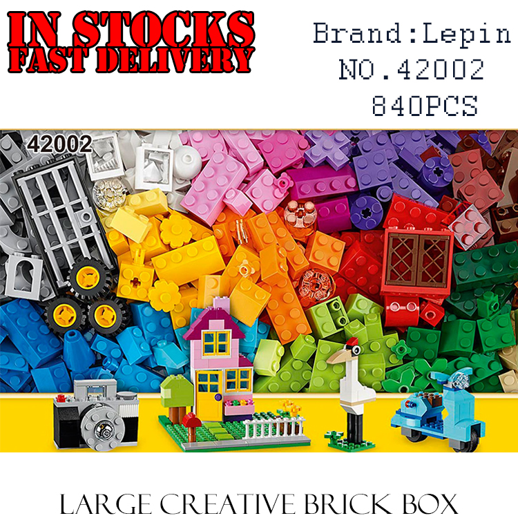 LEPIN Classic Duplo 42002 840PCS Large Creative Building Block Brick enlighten DIY toy for children gifts brinquedos 10698 superwit 72pcs big size city diy creative building blocks brick compatible with duplo sets lepin educational toys children gifts