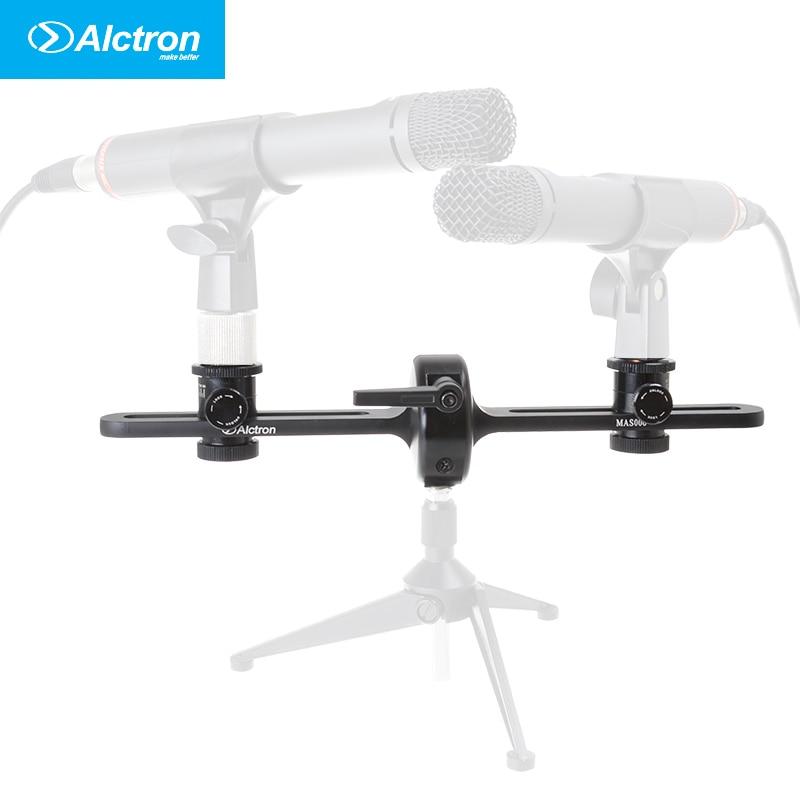 стойка для двух микрофонов - Alctron MAS006 double microphone stand stereo recording dual microphone stand