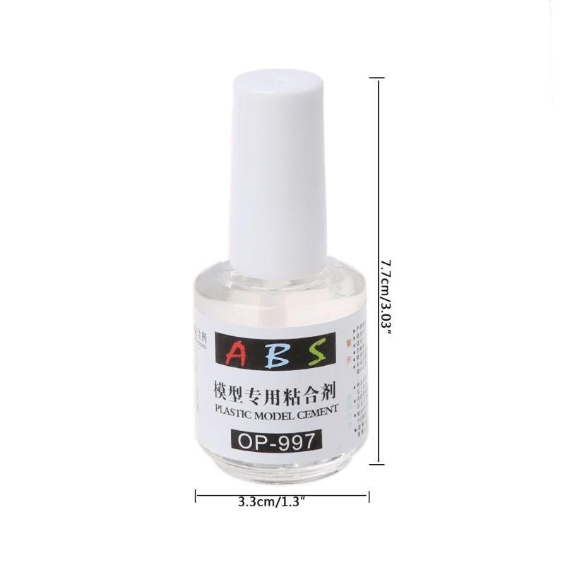 20mL Transparent ABS Plastic Model Cement Special Glue Acrylic Plexiglass Fast Adhesive 3.3x7.7cm