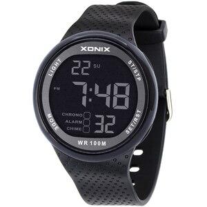Image 2 - Reloj de pulsera Digital LED para Hombre, Reloj de pulsera deportivo para Hombre, marca de lujo, 100M