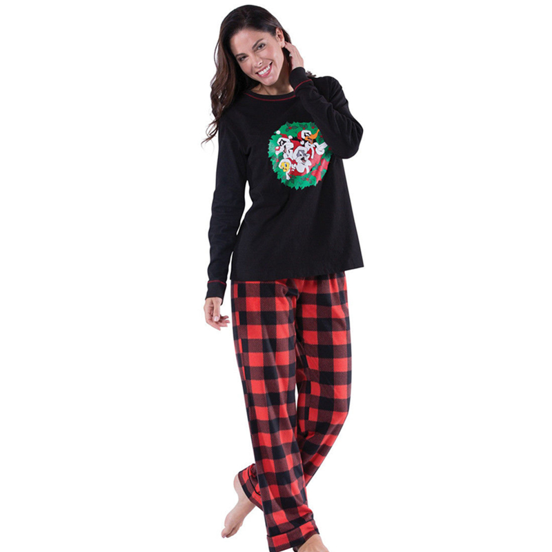b3bc3773b1 Family Matching Christmas Pajamas Set Women Mom Dad Baby Kids Sleepwear  Nightwear Plaid Pants Pajamas Suit-in Women s Sets from Women s Clothing on  ...