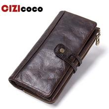 Men Wallet Clutch Genuine Leather Brand Rfid Wallet Male Organizer Cell Phone Clutch Bag Long Coin Purse недорого