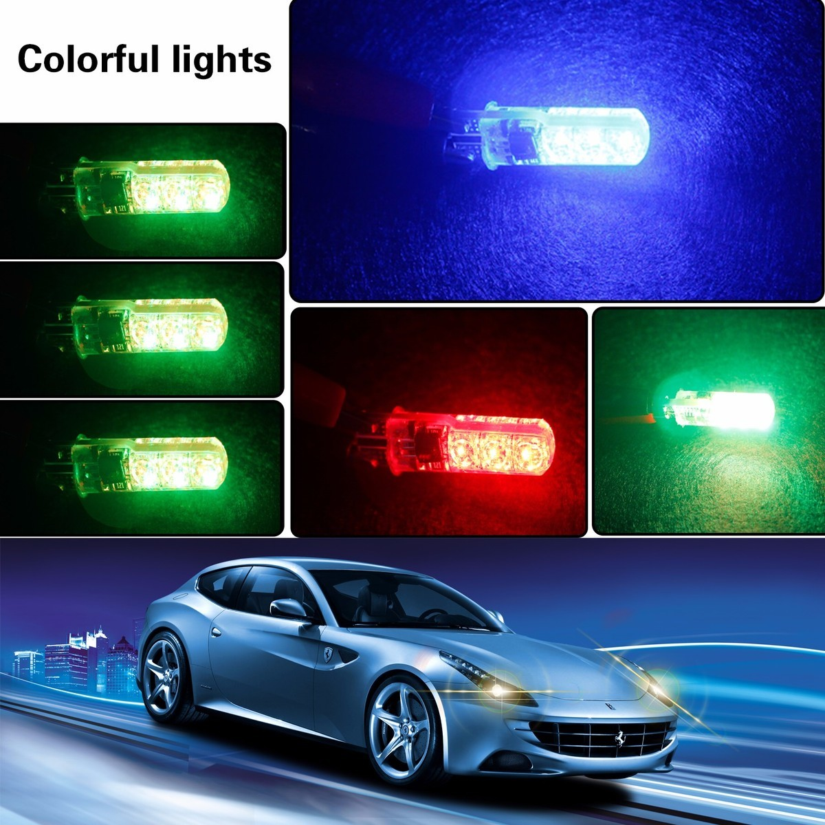 Leadtops t10 w5w rgb led car bulbs with remote control 194 168 rgb leadtops t10 w5w rgb led car bulbs with remote control 194 168 rgb led lamp reading wedge lights strobe 12v silicone 5050 smd bj in signal lamp from parisarafo Image collections