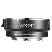 Andoer EF EOSM עדשת הר מתאם טבעת עבור Canon EF/EF S סדרת עדשה לeos M EF M M2 M3 M10 מצלמה גוף תמיכת תמונה יציבות