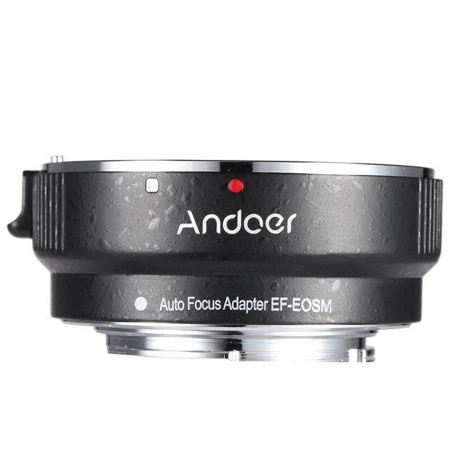 Andoer EF EOSM レンズキヤノン EF 用/EF S シリーズレンズに Eos M EF M M2 M3 M10 カメラボディサポート画像安定性