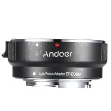 Andoer EF EOSM Lens Mount Adapter Ring Voor Canon Ef/EF S Serie Lens Naar Eos M EF M M2 M3 M10 camera Body Ondersteuning Beeld Stabiliteit