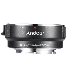 Andoer EF EOSM Lens Mount Adapter Ring for Canon EF/EF S Series Lens to EOS M EF M M2 M3 M10 Camera Body Support Image Stability