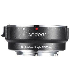 Image 1 - Andoer EF EOSM anneau adaptateur pour monture dobjectif pour objectif de la série Canon EF/EF S vers EOS M EF M M2 M3 M10 Support du corps de lappareil photo stabilité de limage