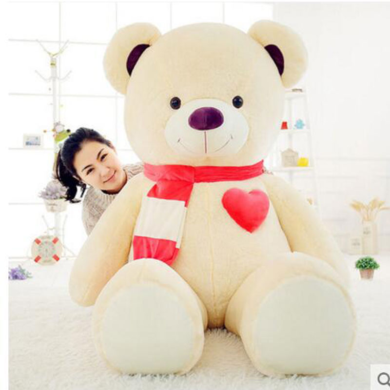Big Bear Stuffed Doll 150cm Teddy Bear Plush Toys Big Toys Animals Bear Children's Birthday Gift Kids Stuffed Gift Plush Toys cute animal soft stuffed plush toys purple bear soft plush toy birthday gift large bear stuffed dolls valentine day gift 70c0074