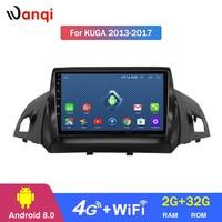 4G Lte все нетком 9 дюймов Android 8,1 полный сенсорный экран Автомобильная Мультимедийная система для Ford Kuga 2013 2017 gps навигация