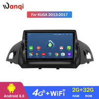 4G Lte All Netcom 9 inch Android 8.1 full touch screen car multimedia system For Ford Kuga 2013 2017 gps navigation