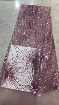 Shinny Pretty material sequins JRB-12286 French Nigerian Laces Fabrics High Quality African Laces Fabric for Wedding