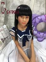 Top quality CATDOLL B cup Valeria 146cm sex doll realistic oral,new mini sex doll EVO skeleton,life size female dolls,CD 032