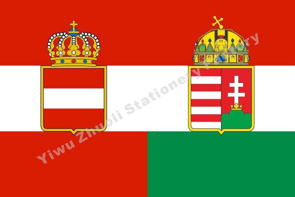 Austro Civile ensign Autriche Hongrie 1869 Drapeau 150X90 cm (3x5FT) 120g 100D Haute Qualité Bannière Livraison Gratuite