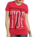 S-XXL Плюс Размер Графический Тис Женщины Футболки Хип-Хоп Двадцать Один пилоты Печати Рок Рубашки Красный Топ Женщин футболки Хлопок Лето 2016