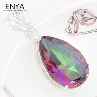 Best Gift new Fashion Style beads joias Romantic Rainbow Fire Mystical Synthetic Crystal Pendant For Women P0502