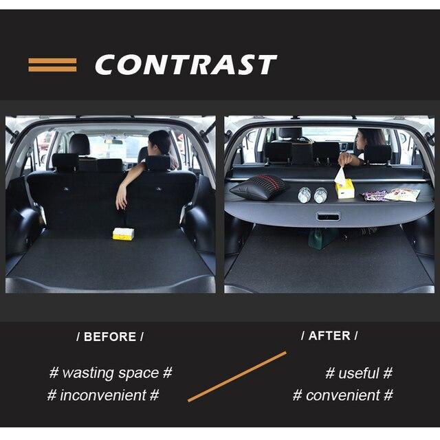 Oto araba arka bagaj kargo raf Toyota Land Cruiser için J200 araba-styling arka kuyruk rafları geri çekilebilir perde Spacer aksesuarları