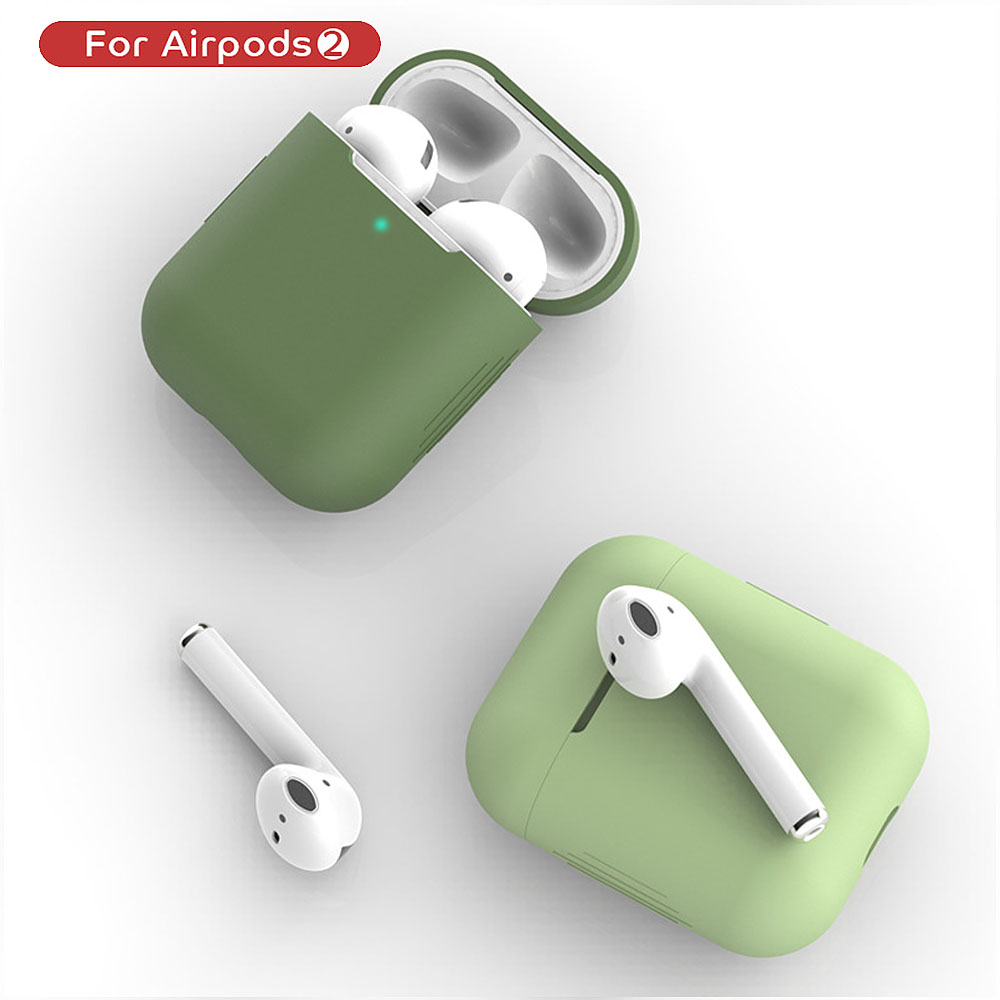 TPU Silicone Bluetooth Wireless Earphone Case For AirPods2 Protective Cover Skin Accessories For Apple Airpods 2 Charging Box