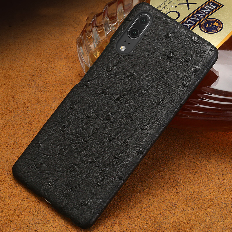 Wangcangli Ostrich skin Genuine leather phone case for Huawei P20 Pro mobile phone protective case Half pack phone caseWangcangli Ostrich skin Genuine leather phone case for Huawei P20 Pro mobile phone protective case Half pack phone case