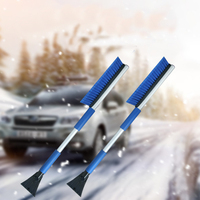 Multifunctional Car Vehicle Winter Snow Ice Scraper Snow Brush Shovel Removal Nylon Brush For Home Window