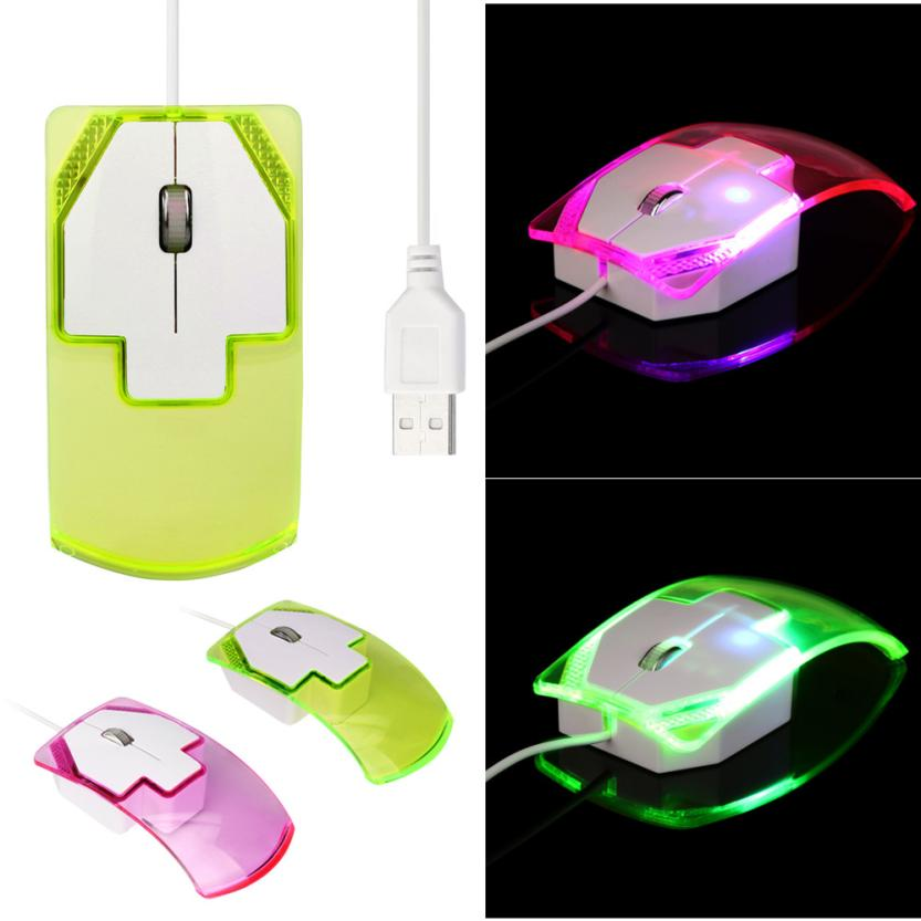 Optical USB LED Lntelligent Wired Game Mouse Mice For PC Laptop Computer 1600DPI