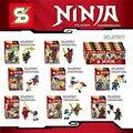 8 Pçs/lote SY617 Nova temporada 7 Fantasma Ninja Ouro Cole Jay Kai Zane WU armas De Ouro Esqueleto Blocos Brinquedos