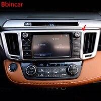 Bbincar ABS Chrome Matte Air Conditioner Middle Central Outlet Air Vent Moulding Trim 1Piece For Toyota