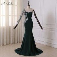 2016 New Dresses Mermaid Appliques Lace Sweetheart Long Sleeves Floor Length Vestidos De Fiesta Evening Dresses