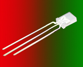 Open-Minded 1000pcs X 2x5x7 Red Jade Green Bicolors 3pin Diffused Lens Common Cathode/anode 257 Square Rectangle Superbright Led Long Leg Diodes Electronic Components & Supplies