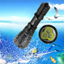B2 8Modes XML-T6 LED Scuba Diving Underwater 100M Flashlight Torch Waterproof Bicycle Light Camping & Hiking Wholesale&retail
