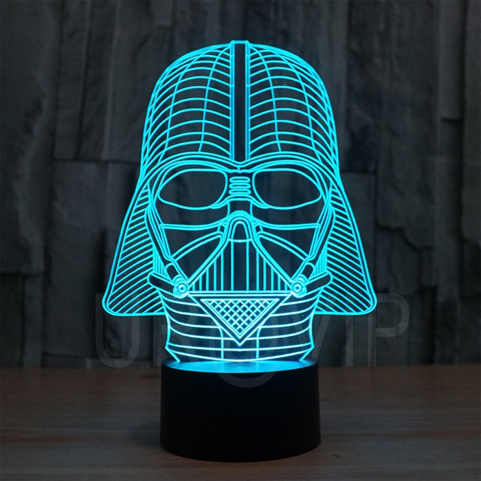 JC-2833  Amazing 3D Illusion led Table  Lamp Night Light with darth vader shape   (7)