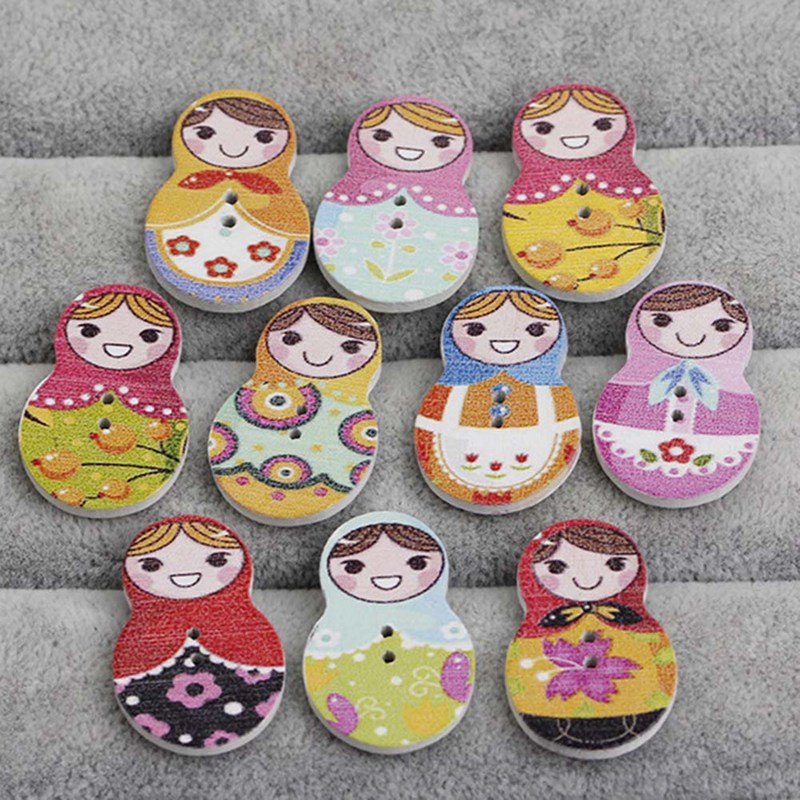 Nesting Hot Sale Russian Doll Matryoshka Family Brooch Pin Charm Hand Painted Original Souvenir