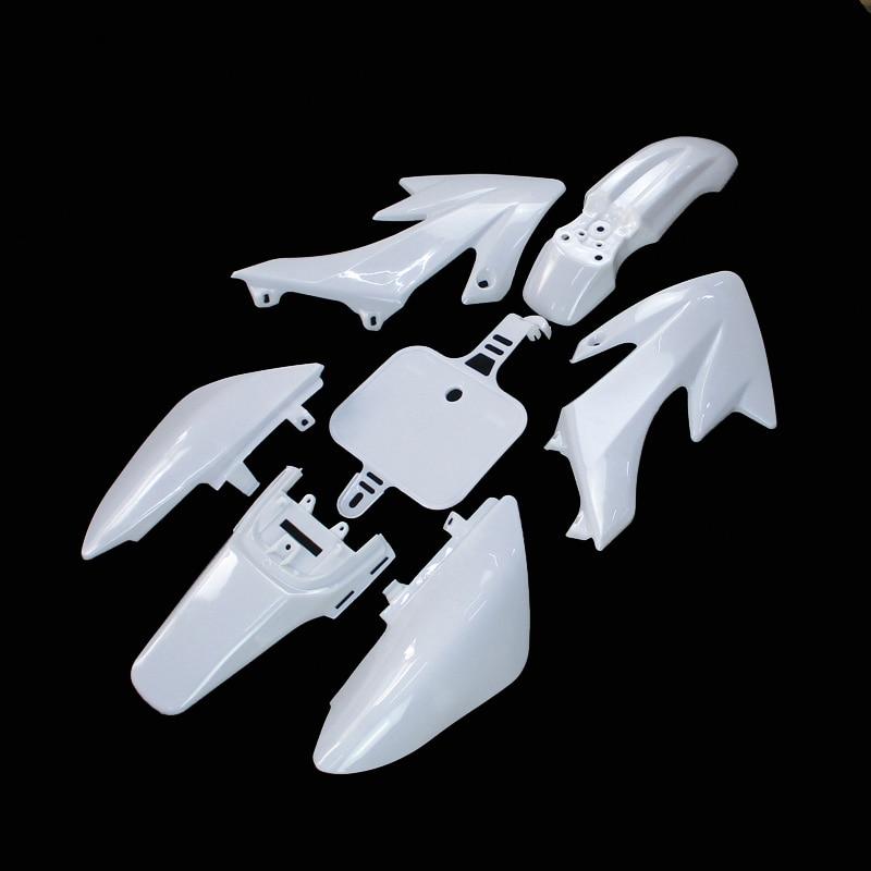 Белый пластмассовый обтекатель для Honda XR50 CRF50 Pit Dirt Bike SSR Thumpstar YCF Stomp Coolster Pitsterpro 50cc-160cc