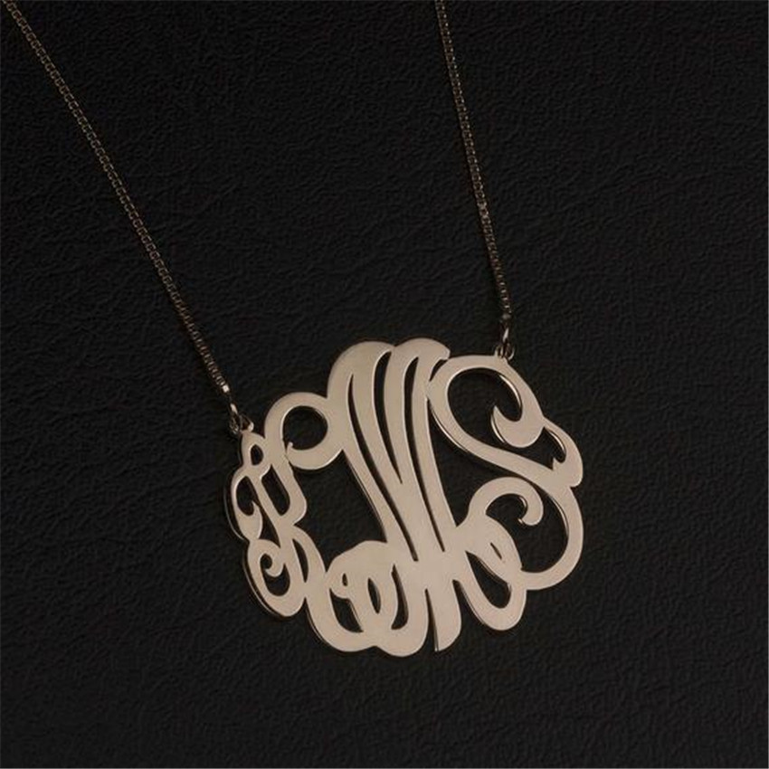 Bff Jewelry Personalized 3 Initial Monogram Pendant