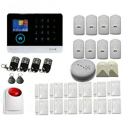 Yobang Security WiFi GSM GPRS RFID Home Burglar Alarm House Surveillance Security System Wireless IP Camera Siren Smoke Sensor yobang security rfid gsm gprs alarm systems outdoor solar siren wifi sms wireless alarme kits metal remote control motion alarm