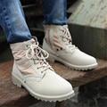 Arranque del desierto de Los Hombres de Lona hombres zapatos casuales de Alta superior al aire libre de Mezclilla martin botas de gran tamaño 40-45 botines botas planas de invierno zapatos de los hombres