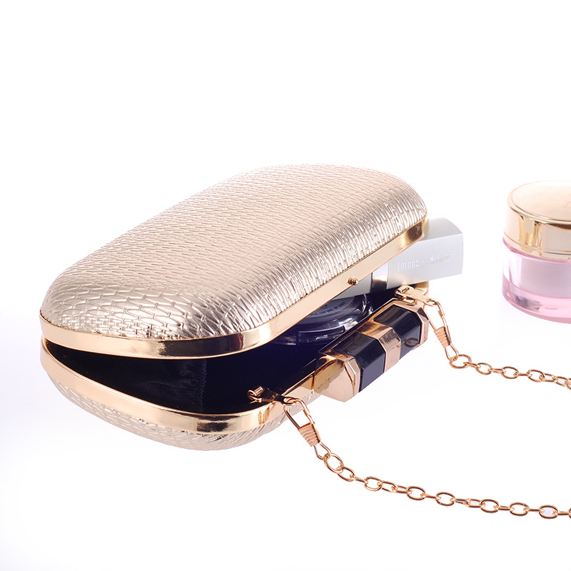 Donne Sacchetto Modo 1104 Shoulder Cuoio 2018 Dell'unità Black Messenger Borsa silver Colori Nuovo Delle Girls Mini Li Tre Sera Bag Di Elaborazione Frizione Banchetto gold 8Wvfw15qT