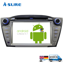 A-Sure Android 5.1.1 CAR Audio DVD player FOR HYUNDAI TUCSON IX35 2009-2013 gps Multimedia head device unit receiver BT WIFI