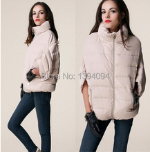 Low price 2016 sale full new ladies fashion down coat winter jacket outerwear Bat sleeve in thick women jackets parka overcoat