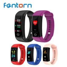 Fentorn F07 Bande À Puce Couleur Écran IP68 Étanche Fréquence Cardiaque Fitness bracelet avec La Pression Artérielle Moniteur D'oxygène Smartband