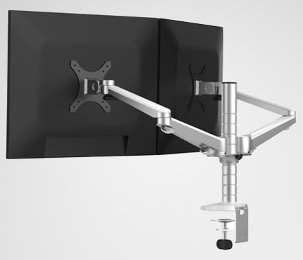 OA 4S Aluminum Alloy Desktop Double Arm Dual Monitor Holder Full Motion 14 27 inch LED