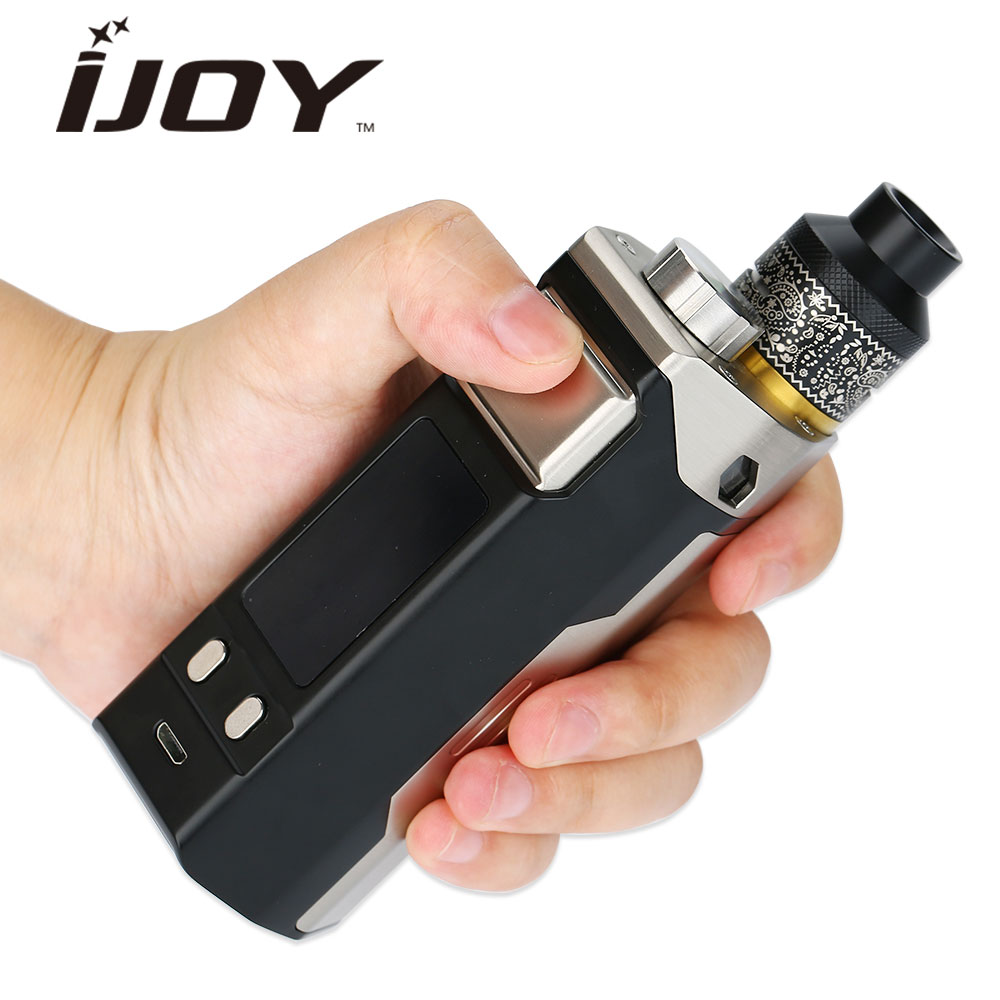240W IJOY RDTA BOX Triple TC Kit w/ 12.8ml Big Capacity Washable Tank & IWEPAL Chipset & MC-10 Build Deck No Battery Vape Kit authentic 225w ijoy captain pd1865 tc full kit with 2 6ml rdta 5s tank
