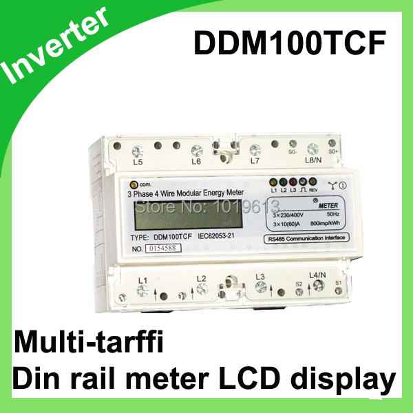 DDM100TCF 15(60)A 110V 60HZ Three phase Din rail KWH Watt hour monitor meter LCD with Multi-tarffi 1 5 65a 120vac 60hz single phase din rail kilowatt led hour kwh meter ce proved