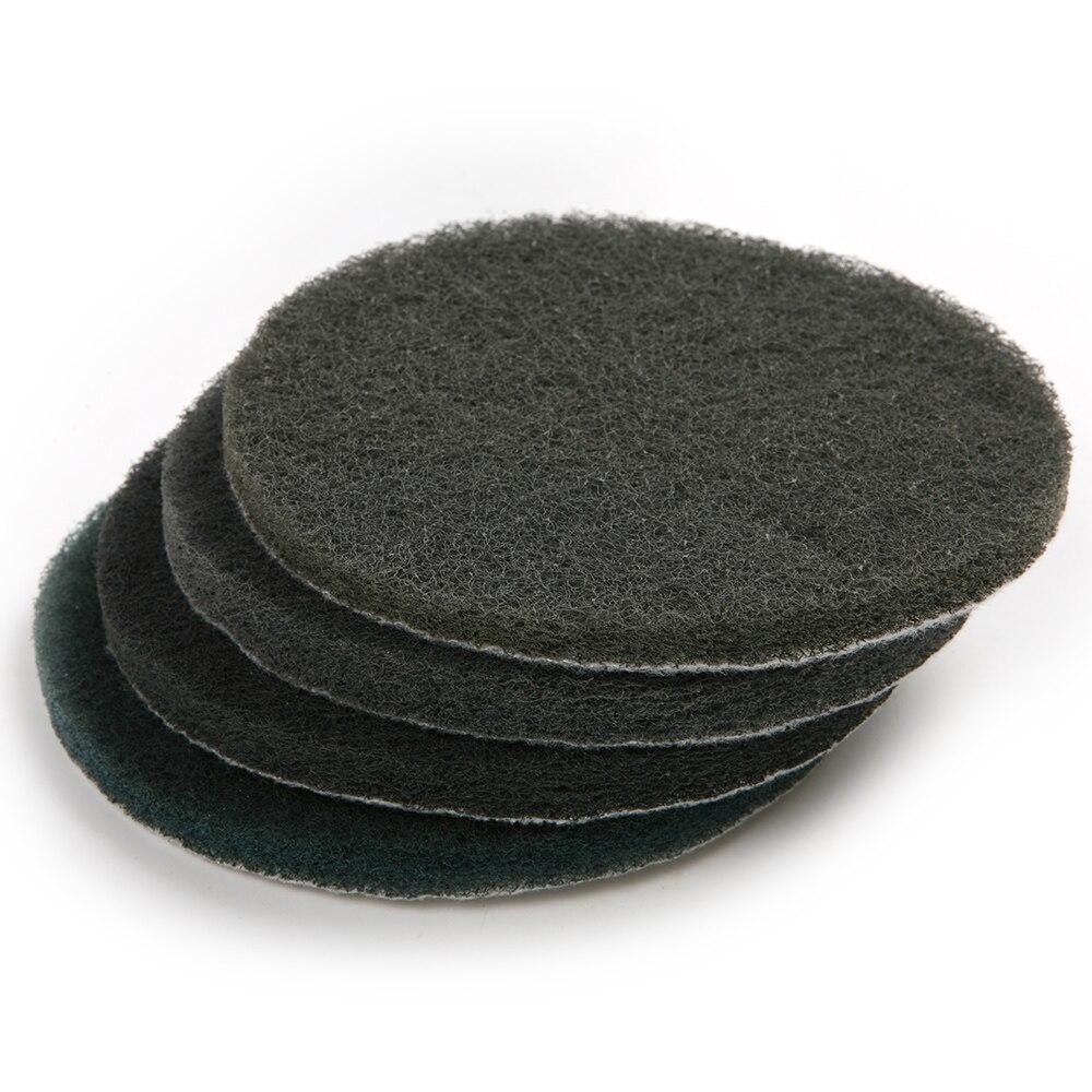 6Pcs Round 5 Inch Scrub Pad Diameter 125mm Industrial Scouring Pad Heavy Duty 1500# Polishing Pad Cleaning Tool