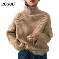 RUGOD Turtleneck Thick Winter Sweater Women Solid Long Sleeve Pullover Female Winter Fashion Women pull femme