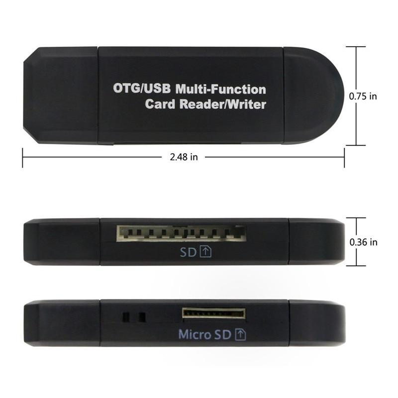 Micro USB Phone Adapter Support Micro SD / SD Card / USB Reader Data Transfer Micro OTG Adapter Converter