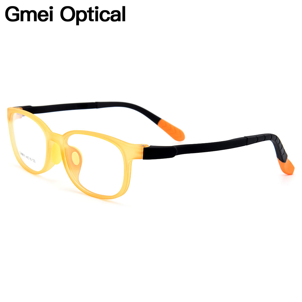 Gmei Optical New Childrens Glasses Ultra-light Flexible TR90 Silica Gel Comfortable Safe Full Rim Kids Eyeglass Frames CX68010